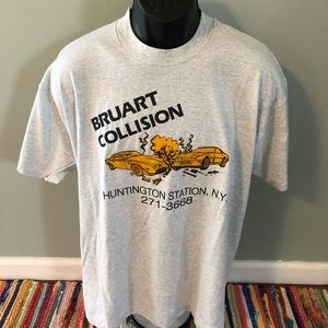 80s Bruart Collision Shirt Auto Body Hintington XL